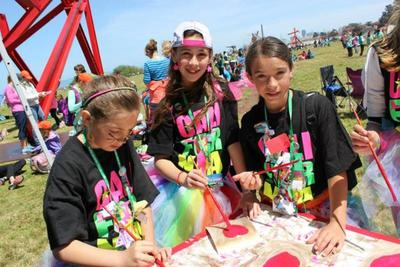 A Girl Scout Painting Event