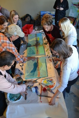 A Collaborative Painting Event