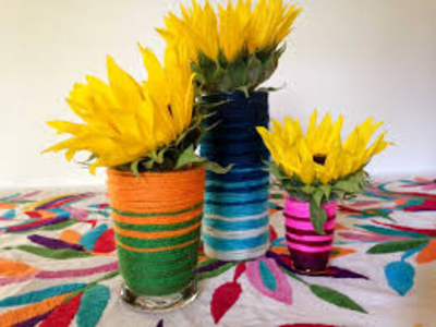Gradient Wrapped Vases