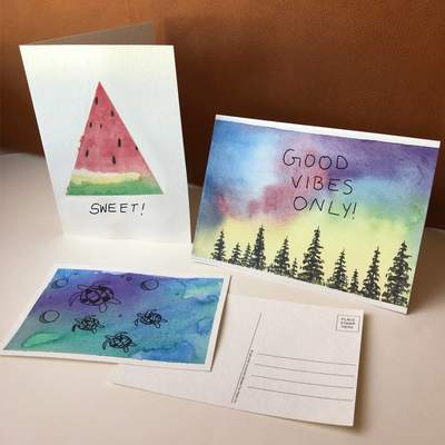 Watercolor Greeting & Postcards