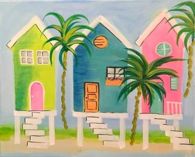 Beach Houses painting
